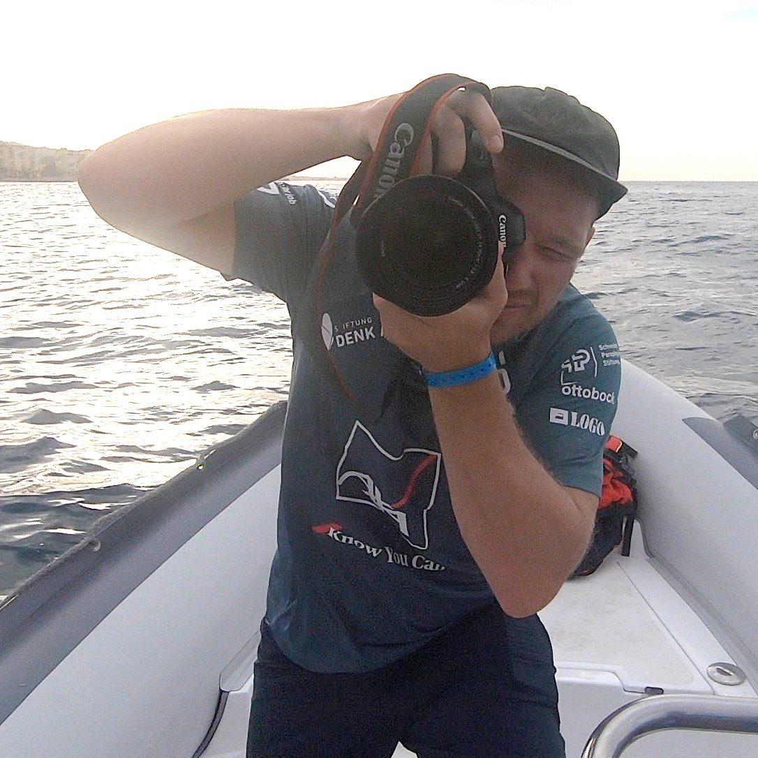 gp challenge 2020, no legs no limits the sailing challenge, gibraltar nach palermo, rüdiger böhm, lars kyprian, katamaran, spanien, frankreich, italien, mittelmeer, foto michele di fede, film rené von gunten